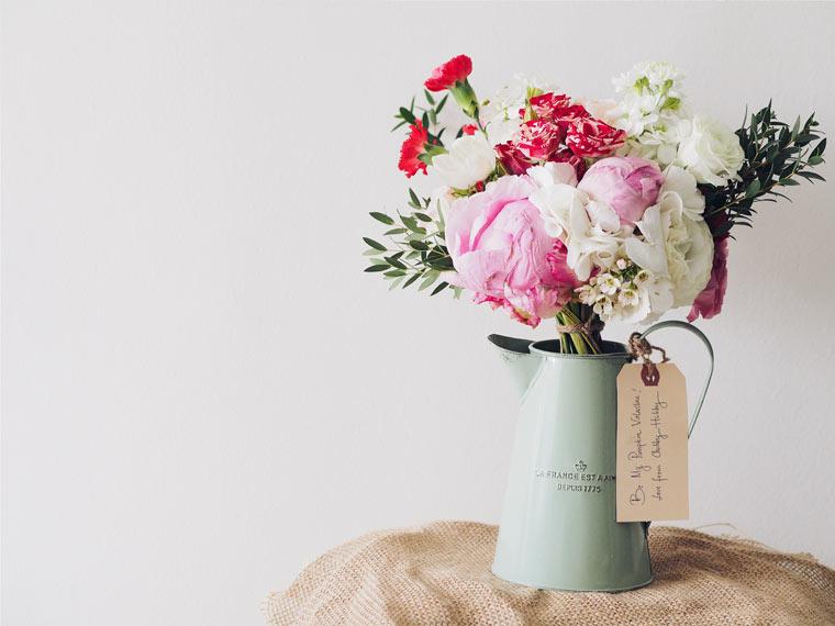 Selbst gebundener Blumenstrauß