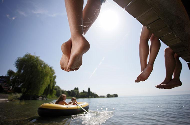 Auf Bootstour gehen oder einfach mal die Füße baumeln lassen ? im Sommerurlaub ist alles möglich