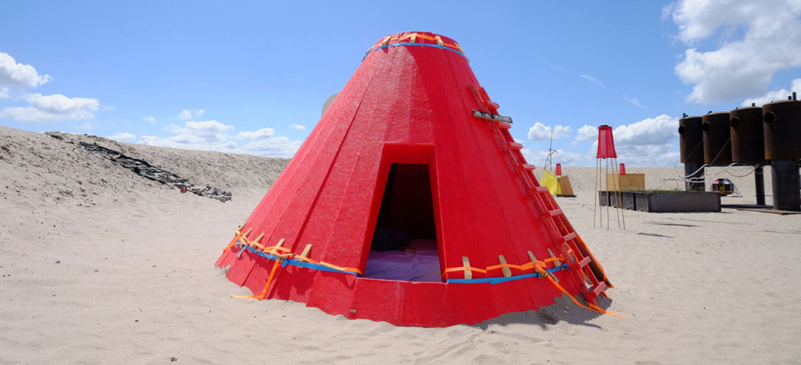 Camping im Kunstwerk