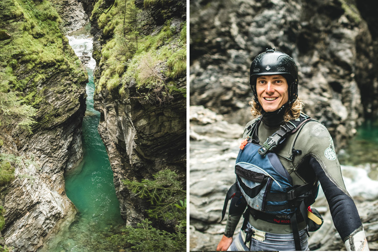 Actionreich wird es beim Canyoning durch die im Kanton Graubünden gelegene Viamala-Schlucht