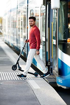 E-Scooter in öffentlichen Verkehrsmitteln