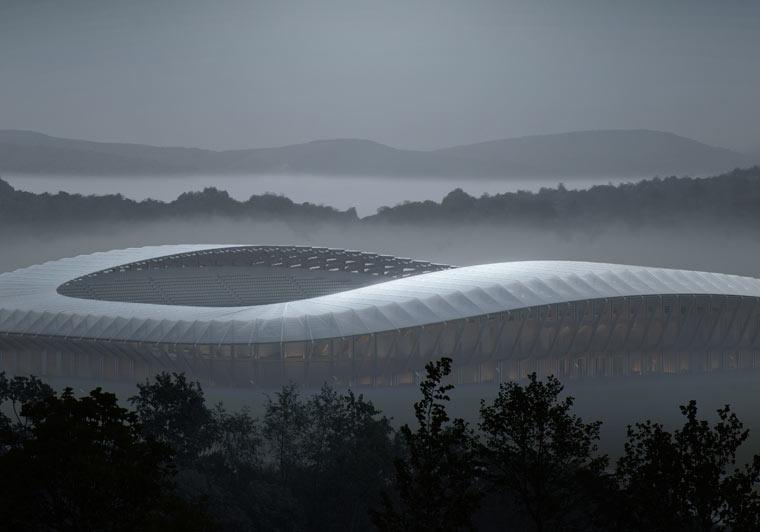Fußballstadion aus Holz soll nachhaltige Vision der FGR krönen