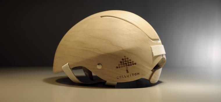 Noch ist der Holz-Helm ein nicht käuflicher Prototyp ? leider