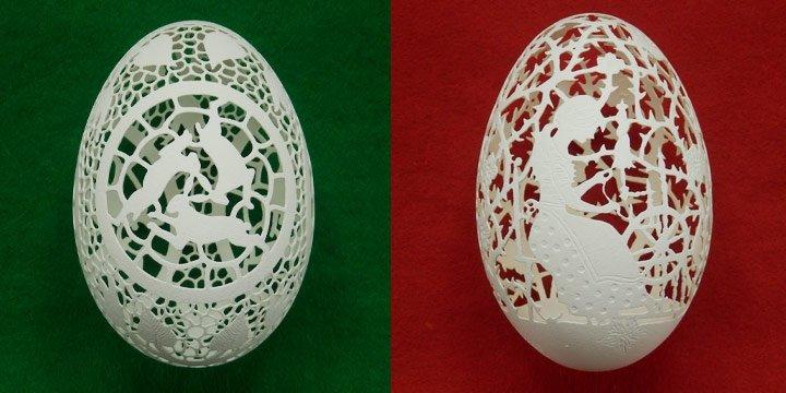 Jedes Ei ein Kunstwerk: Die filigransten Ostereier der Welt