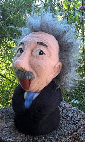 Filzpuppe Albert Einstein