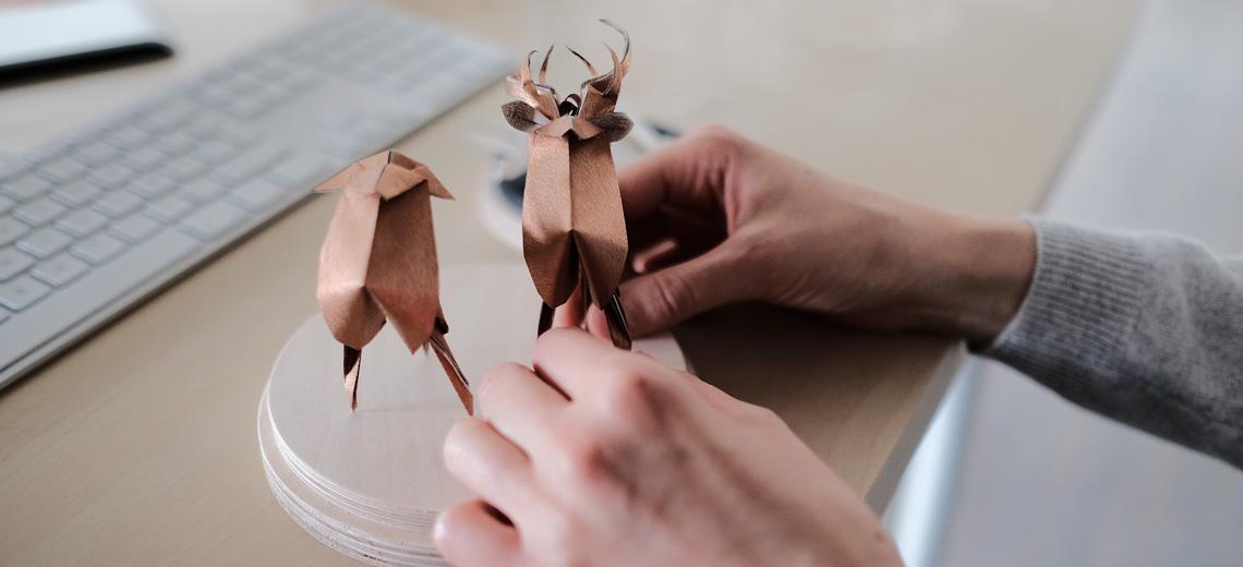 Origami, die alte Kunst des Papierfaltens