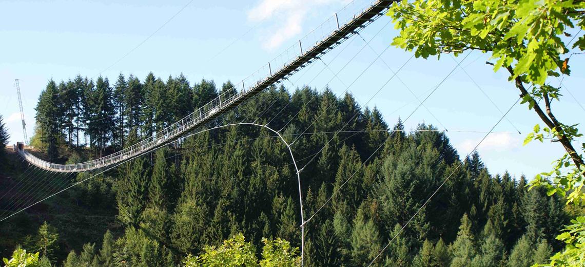 Nichts für schwache Nerven: Die längste Hängeseilbrücke Deutschlands