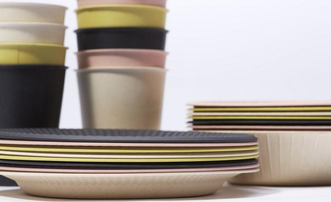 Picknick mit Bambus Geschirr nachhaltig und eco ~ Geschirr Bambus