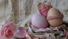 Ostern basteln, wunderbar romantische Ostereier