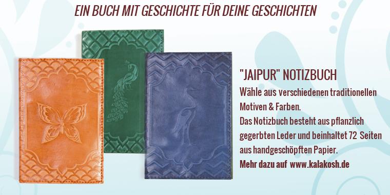 Wir verlosen ein einzigartiges Ledernotizbuch, dessen Farbe und Motiv des Buchs Sie sich auf der Webseite von Kalakosh selbst aussuchen dürfen, sowie einen Satz handgeschöpften Papiers.