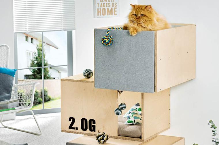 katzenhaus f r die katze zu weihnachten wir verlosen die. Black Bedroom Furniture Sets. Home Design Ideas