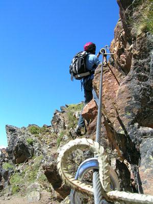 Sicherheit auf der Klettersteige
