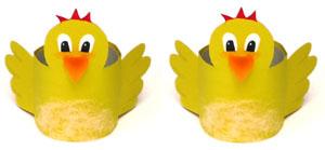 Ostern Basteln Eierbecher Aus Klopapierrollen Kueken