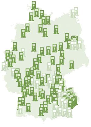 Ökostrom-Ladestationen in Deutschland