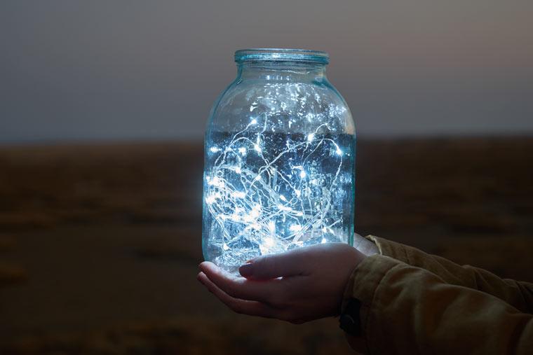 Lichterpracht im Einmachglas