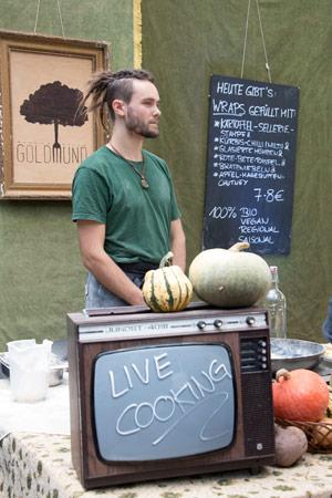 Live Cooking am Heldenmarkt