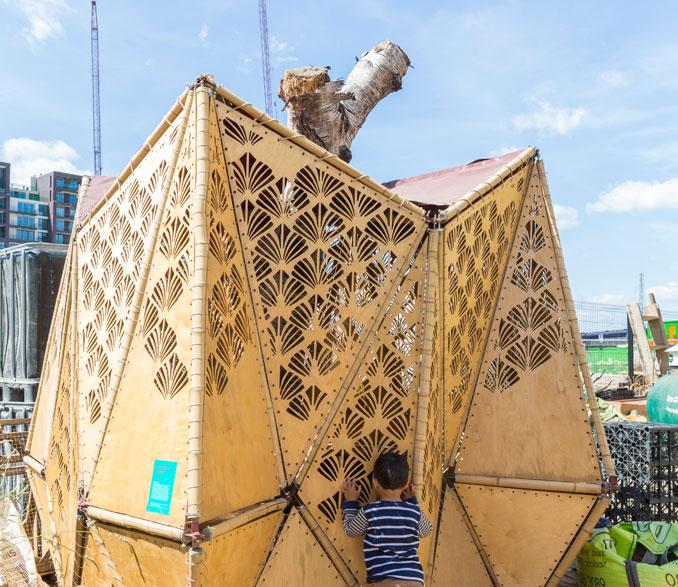 Eine Haus extra für die Hühner des Skip gardens