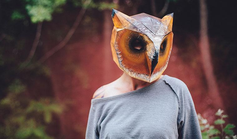 Halloween Maske zum Selberbasteln