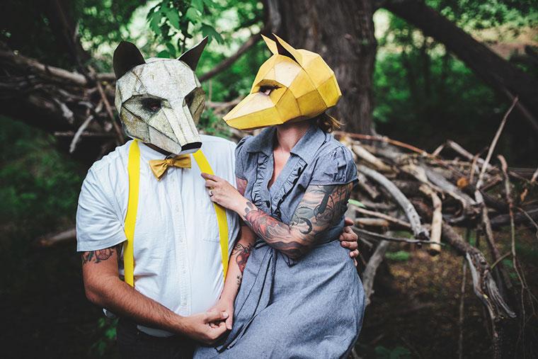 Masken basteln fuer Halloween