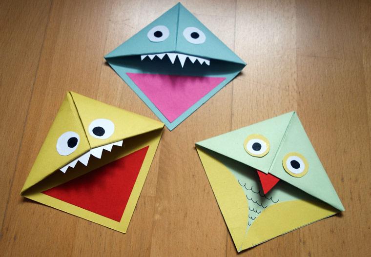 Lesezeichen Basteln Witzige Monster Lesezeichen Für Ihr Buch