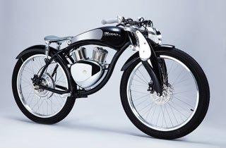 Charmantes Retro-Bike mit Hightech-Herzstück