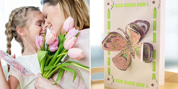 Muttertagskarten selber basteln und bedrucken – mit umweltfreundlichem Linoleum