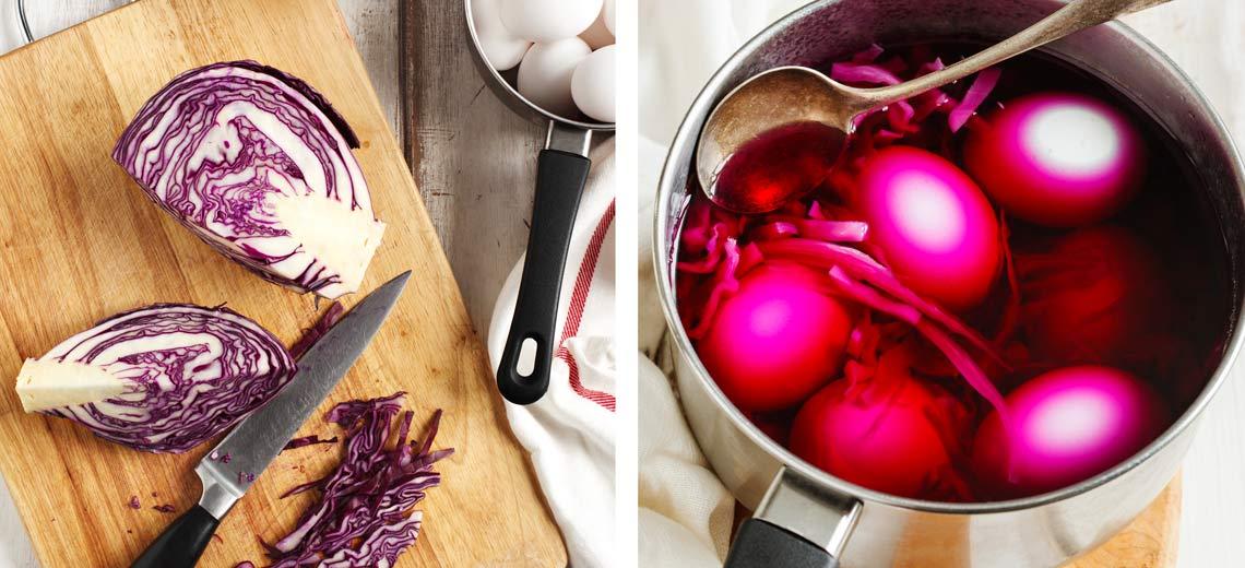 Ostereier natürlich färben und verzieren