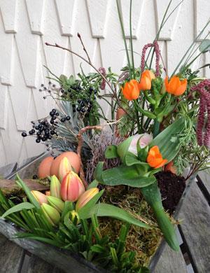 Wald, Wiese und Garten für den Ostertisch