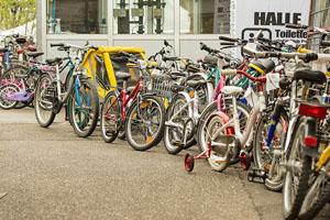Die Fahrräder stehen bereit für Groß und Klein © Radlhauptstadt München
