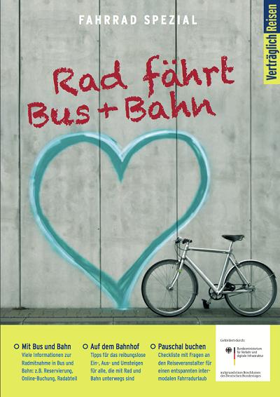 Rad fährt Bus und Bahn Broschüre ©Verträglich Reisen