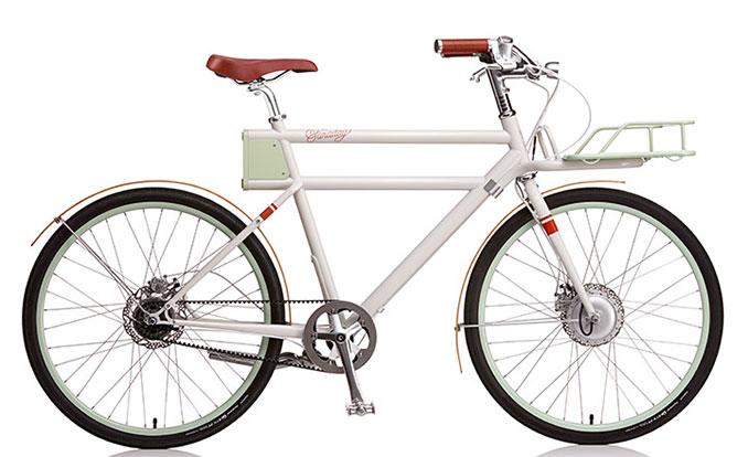 Das Retro E-Bike in weiß