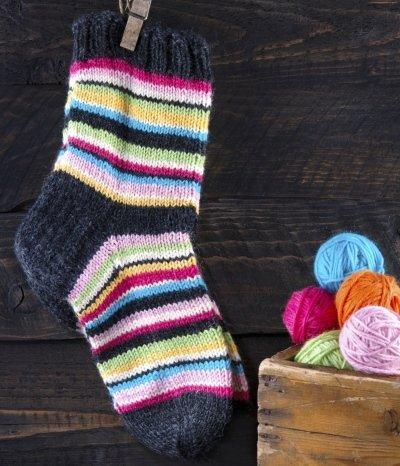 So gehts: Socken stricken aus Biowolle