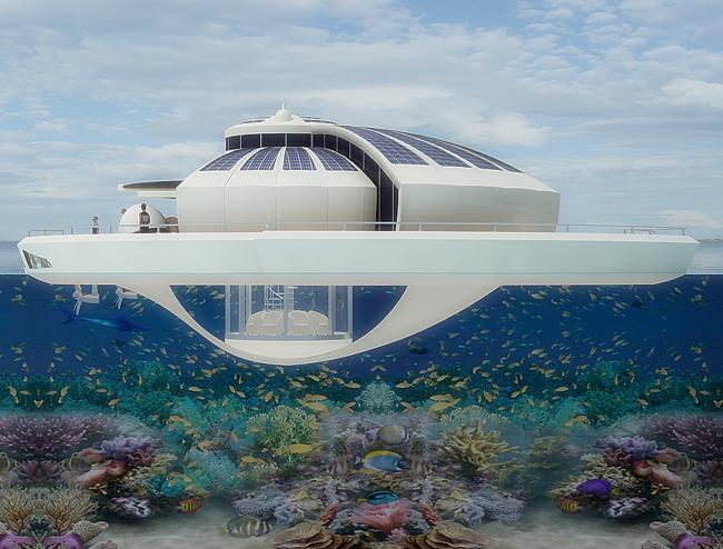 Umweltfreundlicher Luxus und Reisen: Solar Floating Resort