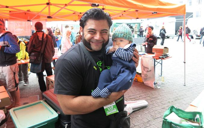 Strongman Patrick Baboumian auf dem vegan street day