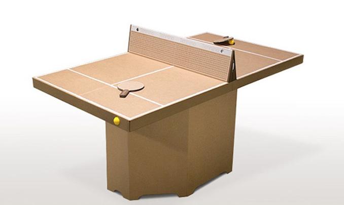 Tisch Aus Pappe tischtennisplatte und spiel aus pappe fürs büro