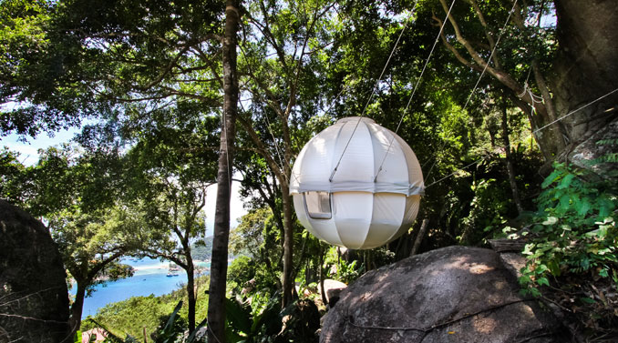 Romantische Nächte zu Zweit im Cocoon Tree