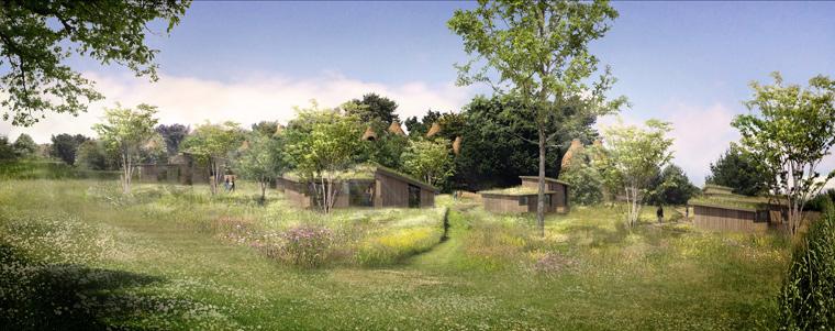 Auf der Isle of Wight werden bald luxuriöse Baumhäuser gebaut, die sich an der Form von Vogelnestern orientieren und bald als Ferienhäuser genutzt werden können.
