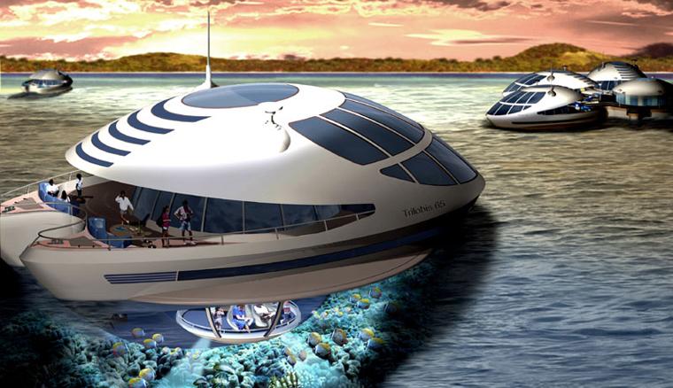 Futuristische luxusyachten  Hausboot mal anders Öko-Luxus aus einer einzigartigen Perspektive