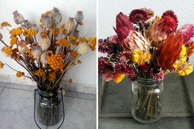 Dekoration aus Trockenblumen selber machen