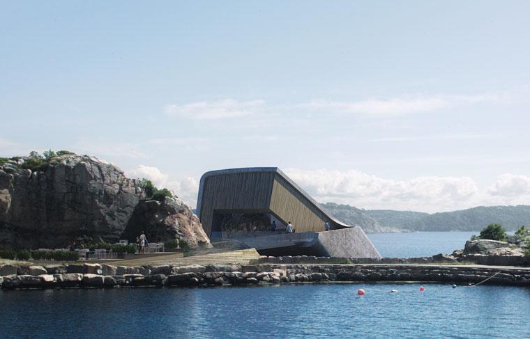 Europas erstes Unterwasserrestaurant an Norwegens Küste