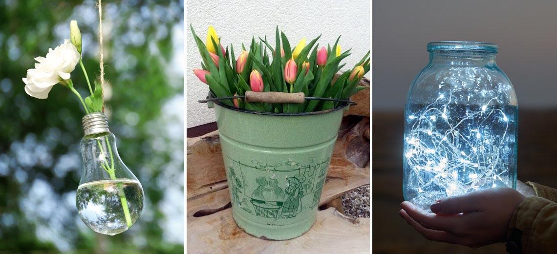 Upcycling: 7 Deko-Ideen aus alten Flaschen, Gläsern und Dosen