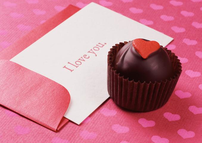 Valentinstag Praline