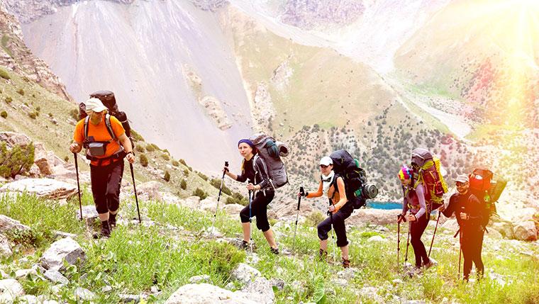 Wandern in der Gruppe erfordert Regeln