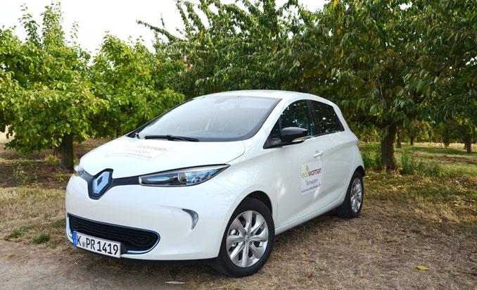 Im Grünen fühlt sich der Renault Zoe wohl