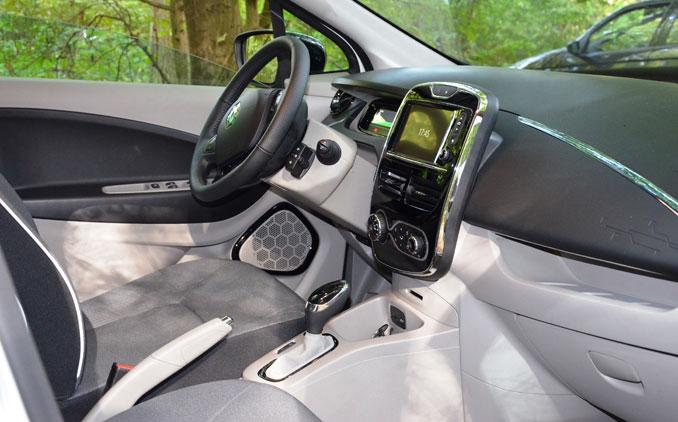 Renault Zoe das Cockpit von innen