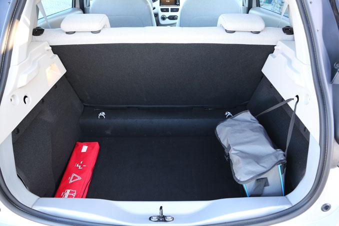 Der Kofferraum des Renault Zoe bietet viel Platz