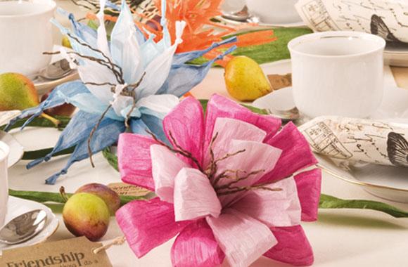 Basteln mit der Familie: Dekorativer Blütenzauber