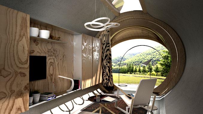 Von außen wie innen ein gemütliches Nest. ©estudibasic.es