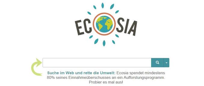 grüne Suchmaschinen ecosia
