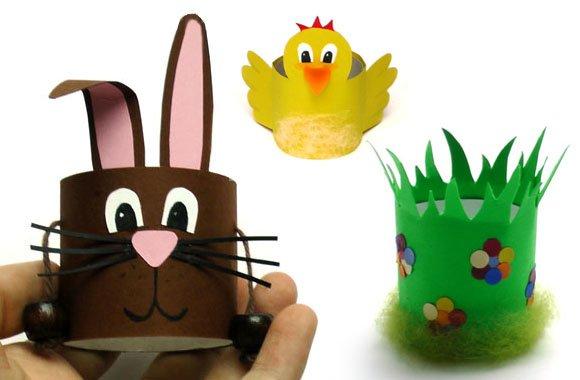 Lustige Eierbecher mit Kindern basteln